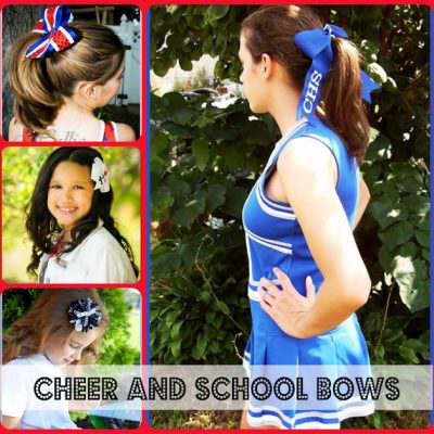 School and Cheer Bows at Bangles Beads Bows