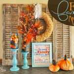 My Faux Fall Mantel