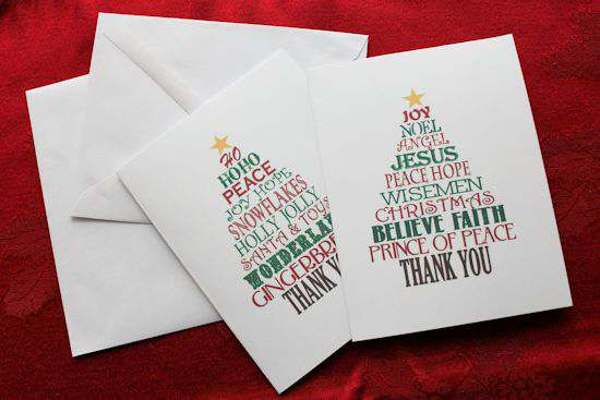 Favorite Christmas Gift Thank You Cards  My Life Abundant