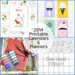 2014 Printable Calendars and Planners with Gift for You