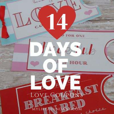 14 Days of Love:  Love Coupons