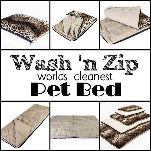 Worlds Cleanest Pet Bed:  Wash 'n Zip