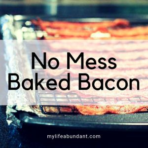 Cooking bacon is so messy. But I have the perfect solution to cooking bacon with no mess by baking it. So easy and no mess