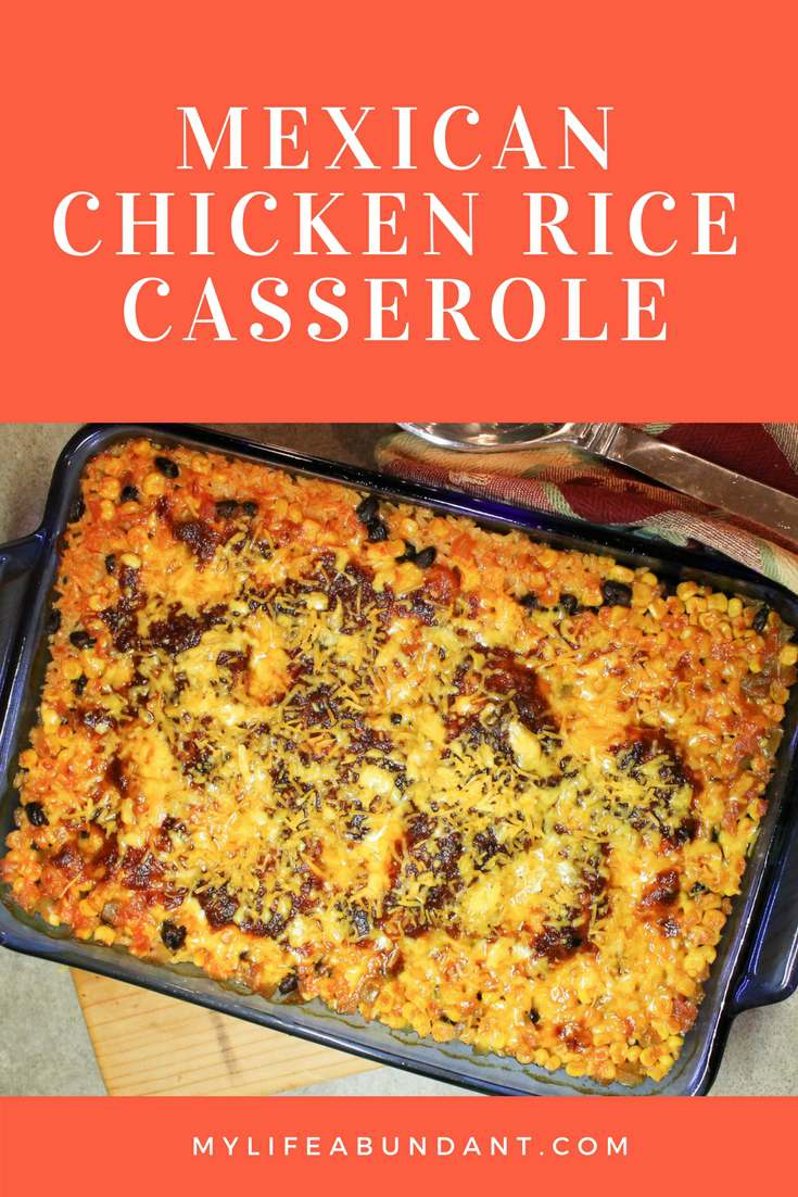Looking for a south of the border casserole. Try this yummy Mexican Chicken Rice Casserole with so many zesty flavors