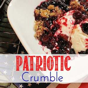 An easy recipe for summertime berries with the colors perfect for and patriotic setting.