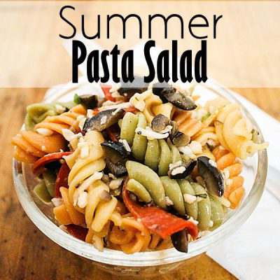 Tri-Color Summer Pasta Salad
