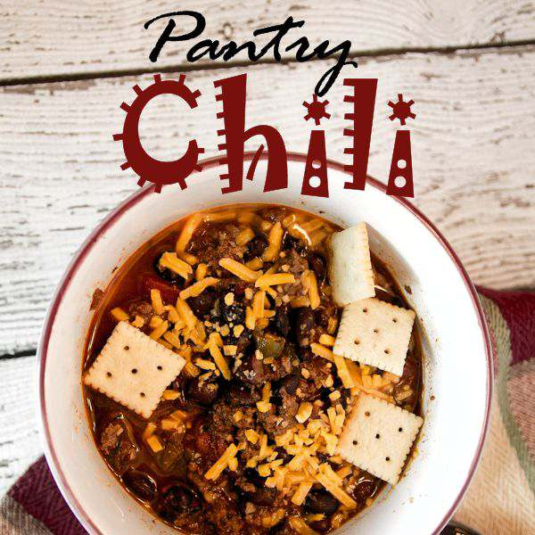 My favorite soup of them all is chili and this meat hearty recipe is perfect to make with items from your pantry.