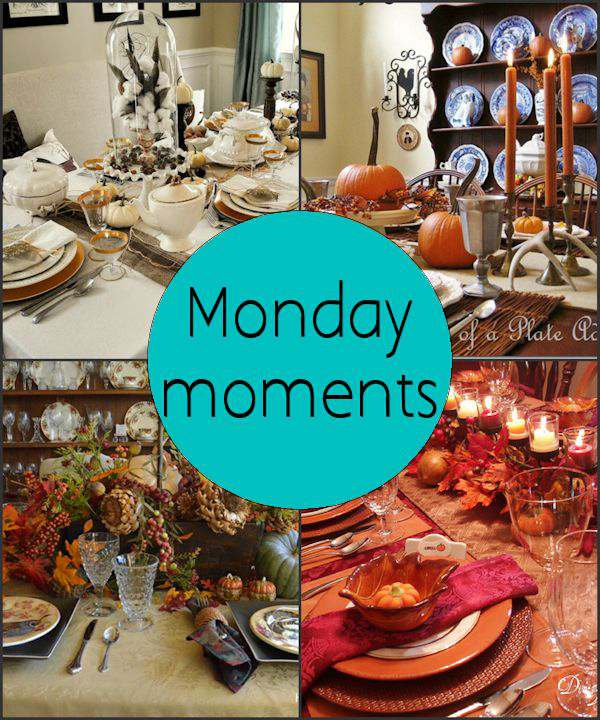 Monday Moments with Thanksgiving Table Decorations and Settings