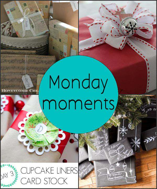 Monday Moments with Wrapping Gifts