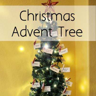DIY Christmas Advent Tree and {Printables}