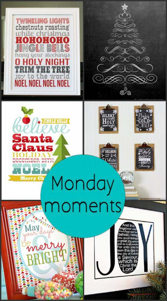 Monday Moments with Cute Christmas Printables