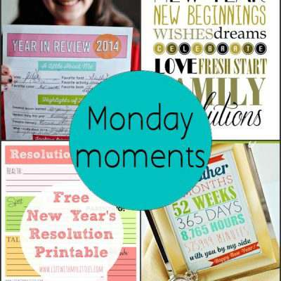 Monday Moments with New Years Printables