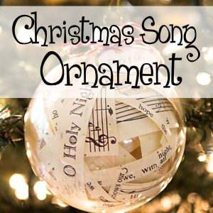 DIY Christmas Song Glass Ornament