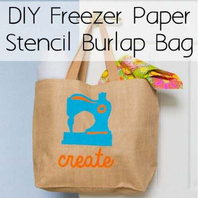 DIY Freezer Paper Stencil Craft Bag
