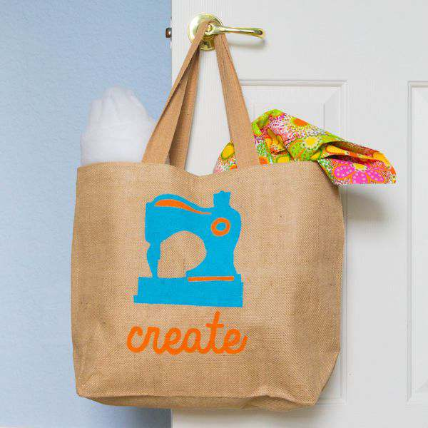 DIY Freezer Paper Stencil Craft Bag and {GIVEAWAY}