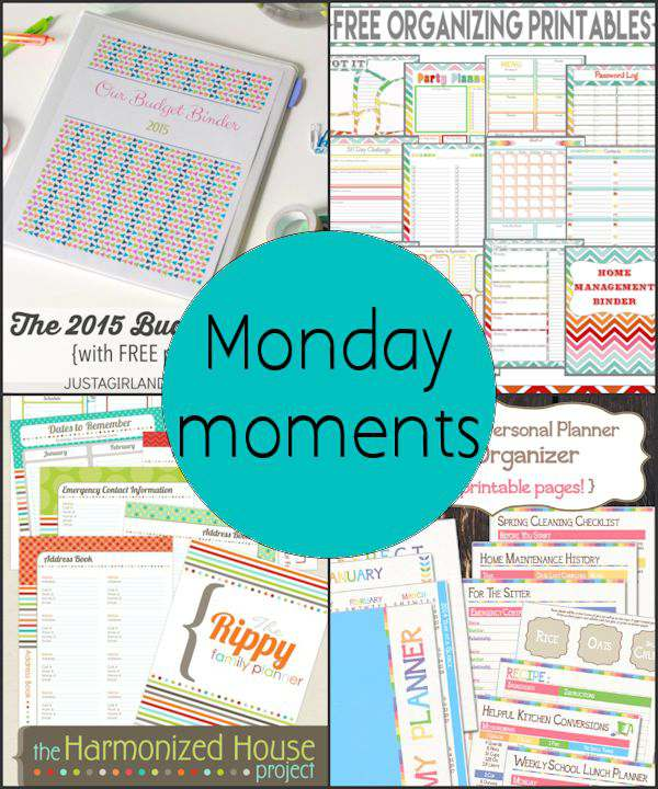 Monday Moments with Organize Printables