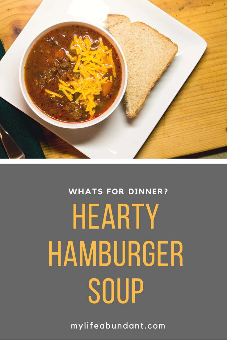 Need an easy soup recipe for dinner? How about a Hearty Hamburger soup with ingrediants you probably already have.