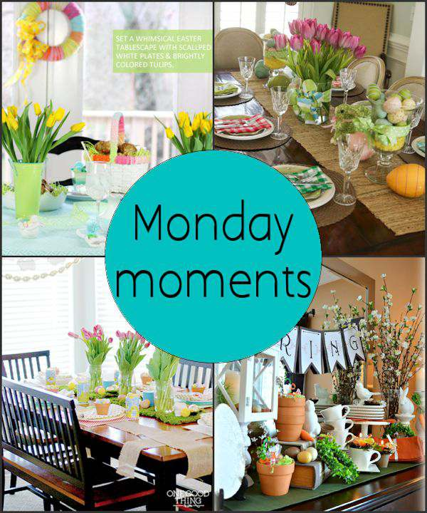 Monday Moments with Beautiful Easter Table Settings