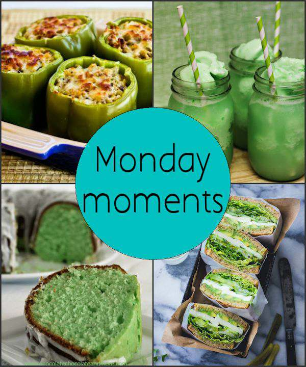 Monday Moments with Green Food for St. Patricks