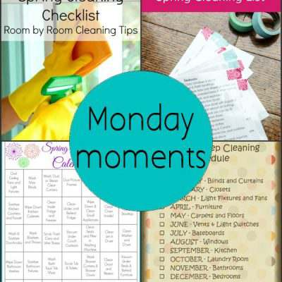 Monday Moments with Spring Cleaning Printables