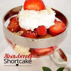 A light dessert for any occasion made with the fresh strawberries. And easy to make too.