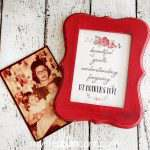 Mother's Day Printable in a Distressed Frame