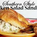 There is nothing better than a cold chicken salad sandwich southern style when its hot outside. Its easy to make your own.