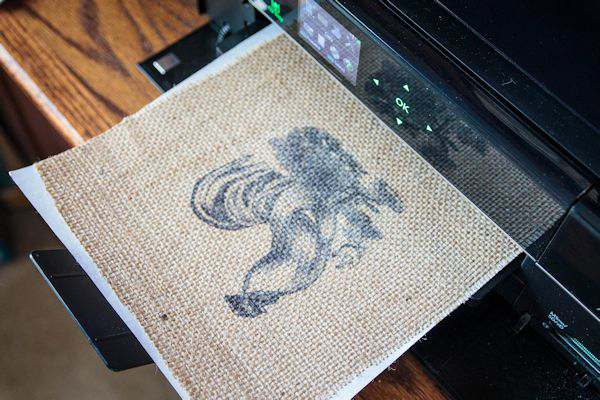 Printing on Burlap + {Printable}