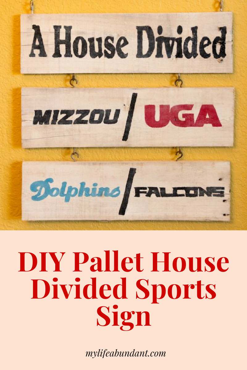 Is your house divided when it comes to sports? Here is a craft project to make to hand during your sports season.