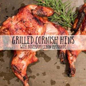 Ad Grilled Cornish Hens with Rosemary Lemon Marinade