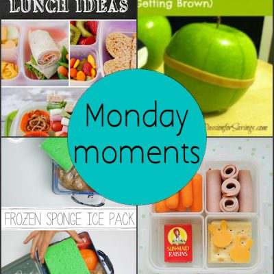 Monday Moments with School Lunch Box Ideas