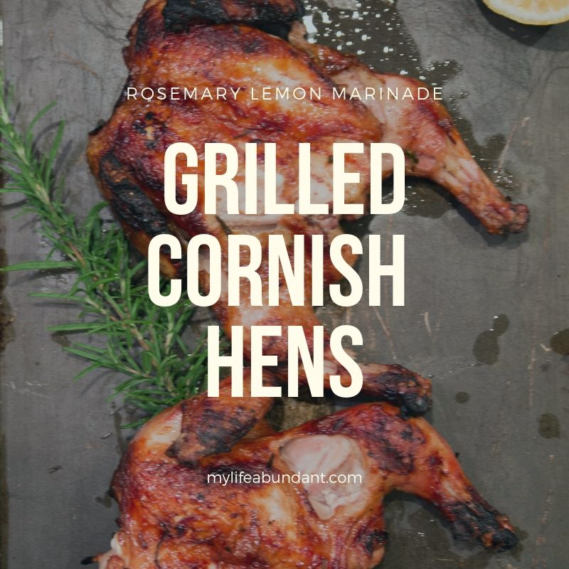 Grilling Cornish Hens are so easy and yummy. Follow the easy step by step recipe for preparing the hens and a tasty marinade.