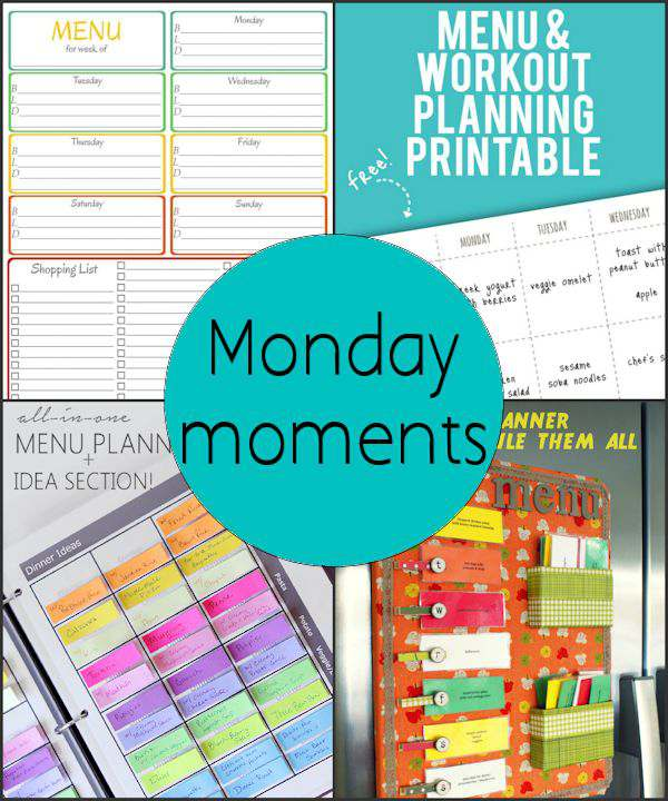 Monday Moments with Menu Planners