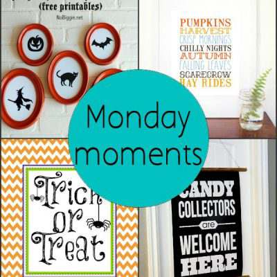 Monday Moments with Halloween Printables