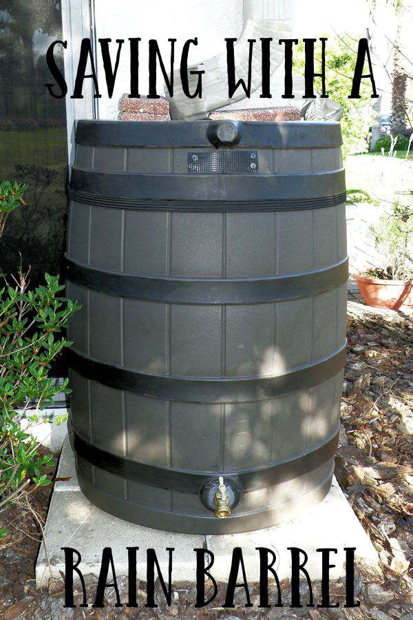 Using a Rain Barrel to Save Water