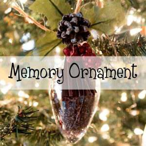 Make a Memory Ornament from items from someone who has passed. Using a clear plastic ornament and items of love inside