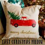Easy Christmas Pillow