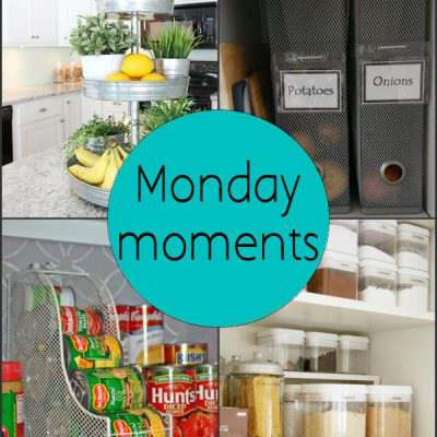 Monday Moments with Kitchen Organization
