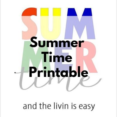 It's Summer Time + {Printable}
