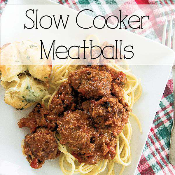 Make mouth watering meatballs from scratch and then sit back while they cook in their sauce in the slow cooker.