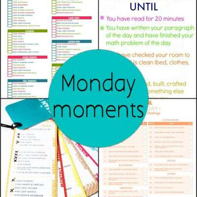 Monday Moments with Spring Cleaning Checklists