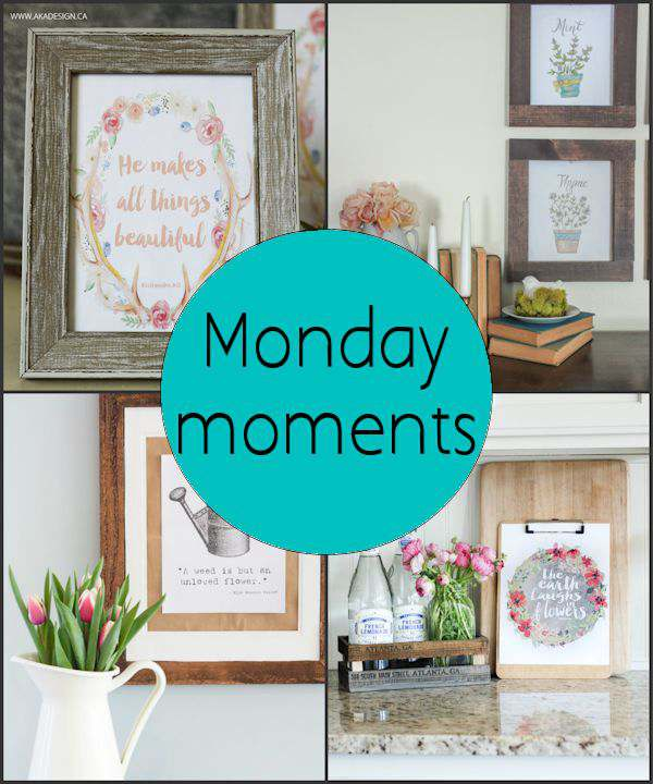 Monday Moments with Spring Decor Printables