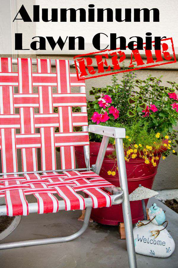 Aluminum Lawn Chair DIY Repair + {Giveaway}