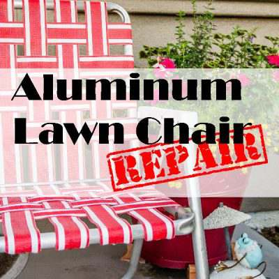 Aluminum Lawn Chair DIY Repair