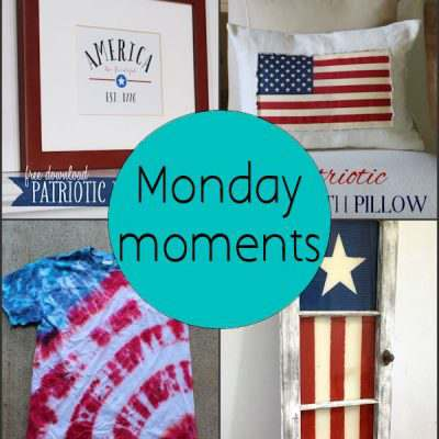 Monday Moments with Patriotic Decorating
