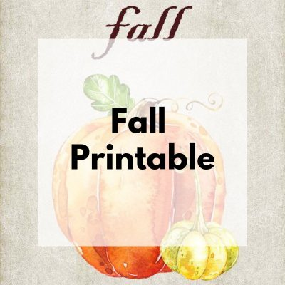 Decorate Your Home with Fall Printables
