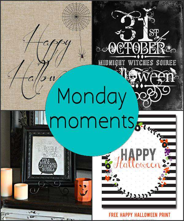 Monday Moments with Fun Halloween Printables