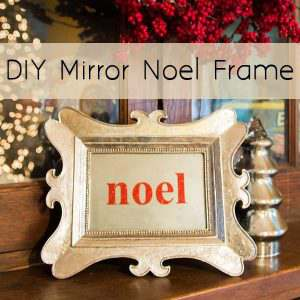 Have a spare picture frame to repurpose into something shiny and beautiful for a quick Christmas decorating idea?