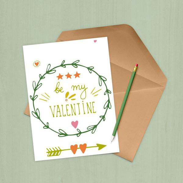Be My Valentine Printable Card