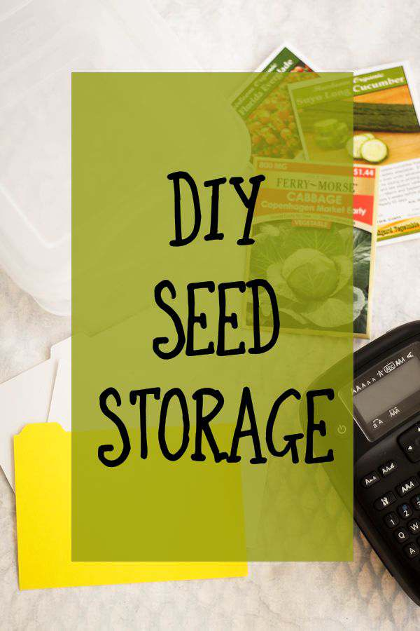 Need a place to store all your garden seeds? I have the perfect DIY Seed Storage thats easy to do and the perfect size.